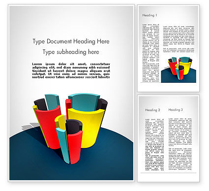 Business Concepts: 3D Diagrams Word Template #11798