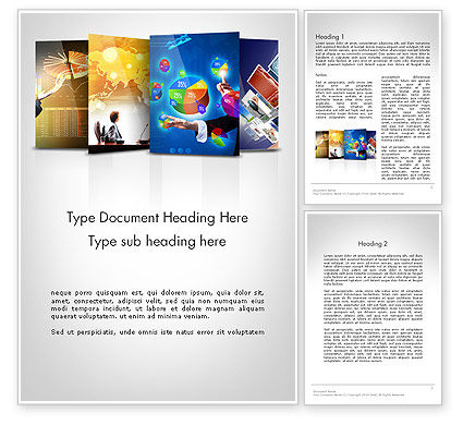 Visual Reports Word Template, 11805, Business — PoweredTemplate.com