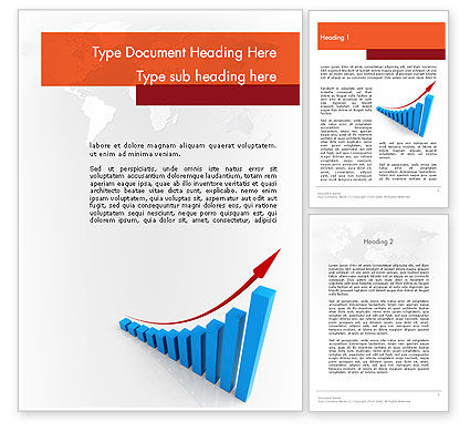 Increasing Sales Word Template, 11808, Business Concepts — PoweredTemplate.com