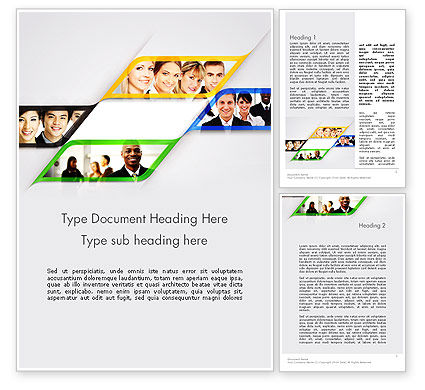 Successful Team Word Template, 11812, People — PoweredTemplate.com