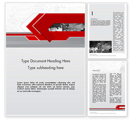 Business: Business Presentation Concept Word Template #11821