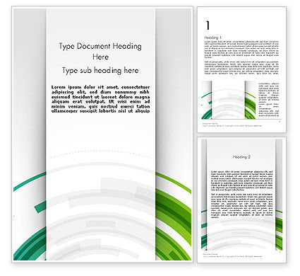 Abstract/Textures: Green Circles Theme Word Template #11822