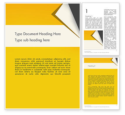 Business: Folded Paper Word Template #11826