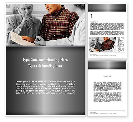 Estate Planning Services Word Template, 11827, People — PoweredTemplate.com