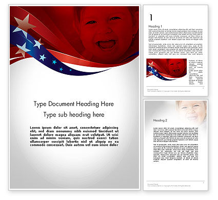 Red White and Pure Word Template, 11832, America — PoweredTemplate.com