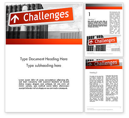 Challenges Word Template, 11833, Business Concepts — PoweredTemplate.com