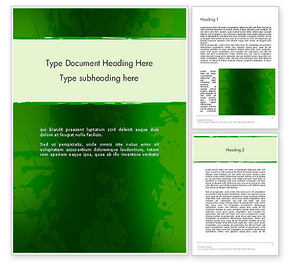 Abstract/Textures: Green Paint Background Word Template #11858
