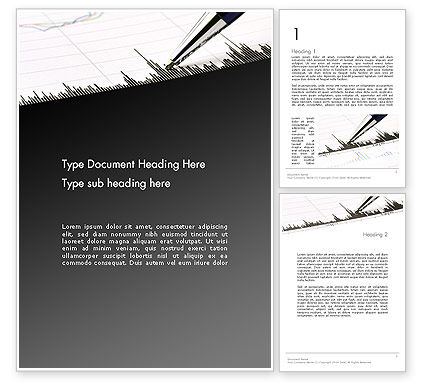 Graphic Data Analysis Word Template, 11859, Financial/Accounting — PoweredTemplate.com