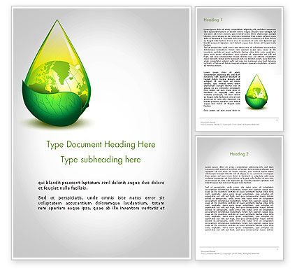 Nature & Environment: Green Cleaning Word Template #11870