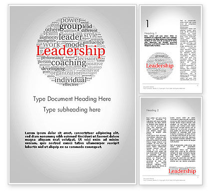 Leadership Word Cloud Word Template