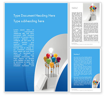 Creative Design Thinking Word Template