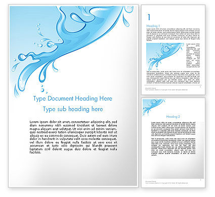 Abstract/Textures: Beautiful Water Splash Word Template #11877