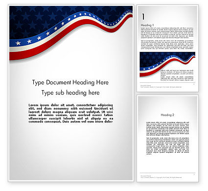 Holiday/Special Occasion: July 4th Banner Word Template #11885