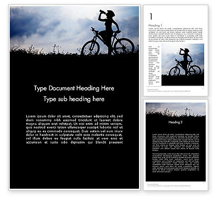 Healthy Habits Word Template, 11917, Sports — PoweredTemplate.com