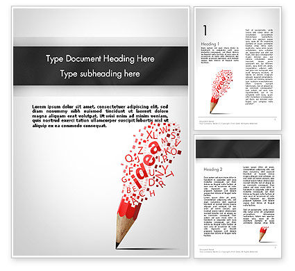 Creative Ideation Word Template, 11924, Business Concepts — PoweredTemplate.com