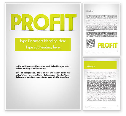 Word PROFIT Word Template, 11925, Financial/Accounting — PoweredTemplate.com