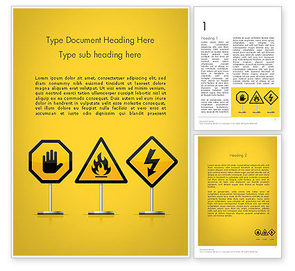 Education & Training: Warning Symbols Word Template #11931