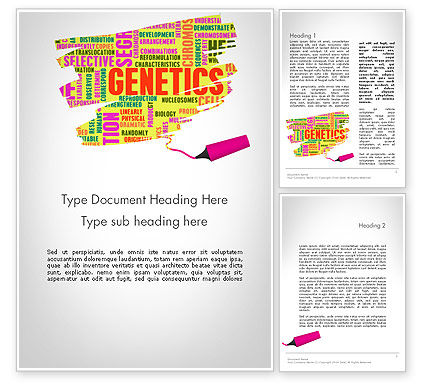 Technology, Science & Computers: Genetics Word Cloud Word Template #11933
