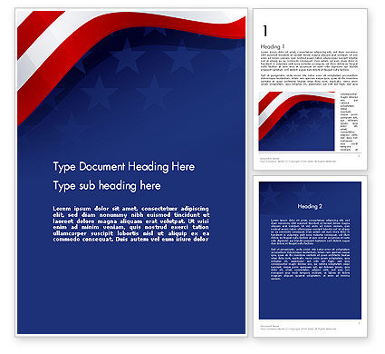 4th July Theme Word Template, 11942, Holiday/Special Occasion — PoweredTemplate.com