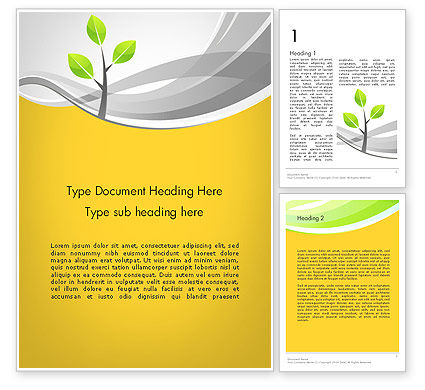 Sapling Word Template, 11944, Nature & Environment — PoweredTemplate.com