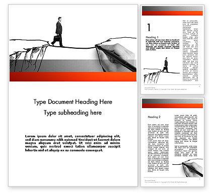 Bridge the Gap Word Template, 11946, Careers/Industry — PoweredTemplate.com