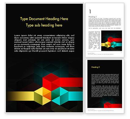 Abstract/Textures: Templat Word Bentuk Geometris Yang Abstrak #11951