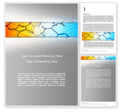 Technology, Science & Computers: Chemistry Themed Word Template #11962