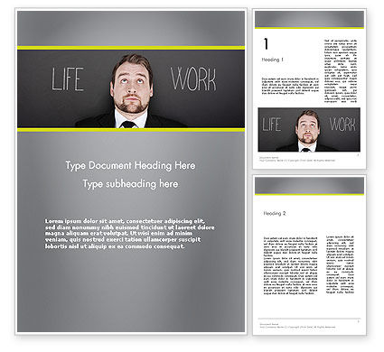 Life Work Balance Word Template, 11967, Careers/Industry — PoweredTemplate.com