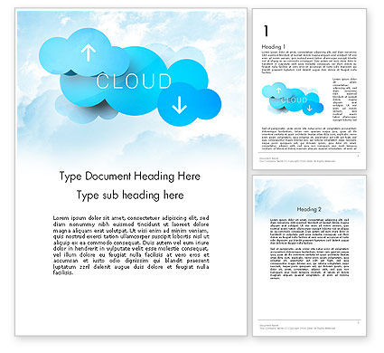 Technology, Science & Computers: Modelo do Word - conceito de tecnologia de nuvem #11977