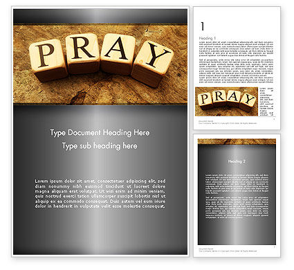 Time to Pray Word Template, 11984, Religious/Spiritual — PoweredTemplate.com