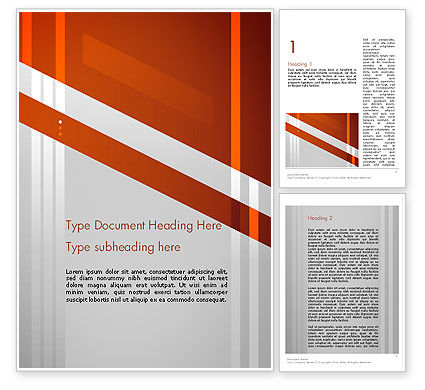 Abstract/Textures: Neat Orange-Gray Word Template #11988