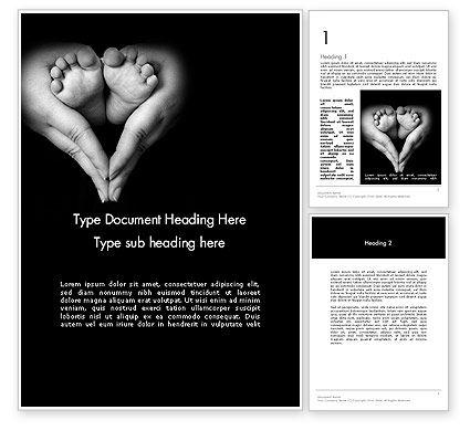 Cute Maternity Word Template, 11996, Religious/Spiritual — PoweredTemplate.com