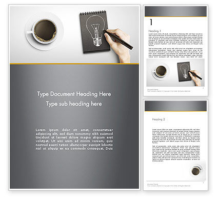 Food & Beverage: Coffee and Productivity Word Template #11998