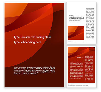Abstract/Textures: Curved Red Layers Word Template #11999