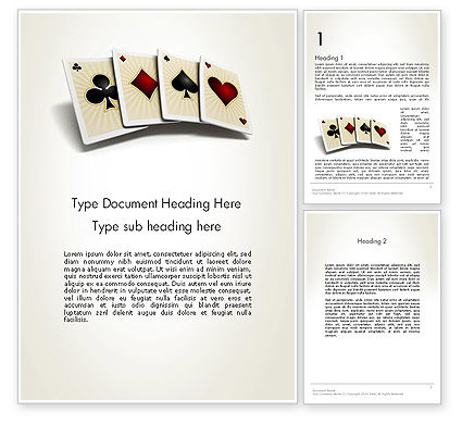 Four Aces Word Template