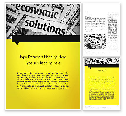 Economic Solutions Word Template, 12004, Financial/Accounting — PoweredTemplate.com