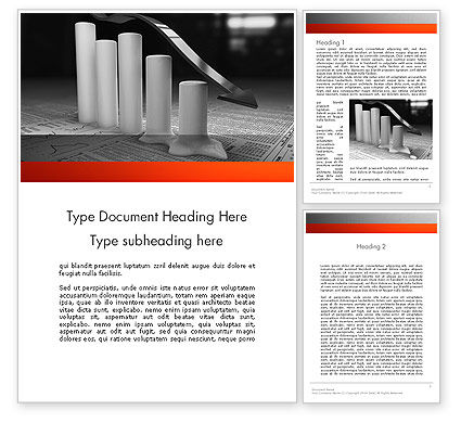 Melting Profits Word Template, 12010, Financial/Accounting — PoweredTemplate.com