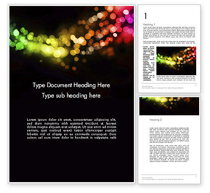 Abstract/Textures: Holiday Lights Word Template #12014