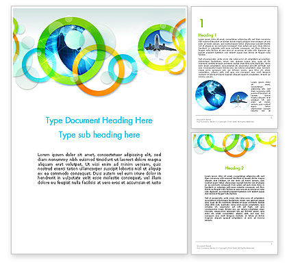 Cool Presentation with Rings Word Template, 12015, Business — PoweredTemplate.com