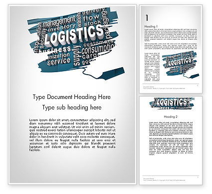 Logistics Word Cloud Word Template