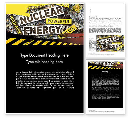 Nuclear Energy Debate Word Template
