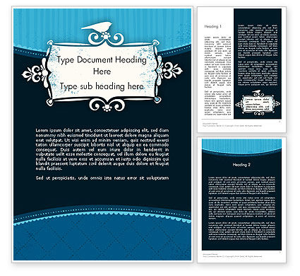 Abstract/Textures: Classic Pattern with Banner Word Template #12028