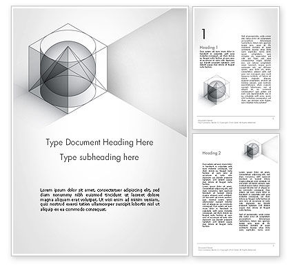 Geometrical Word Template, 12033, Education & Training — PoweredTemplate.com