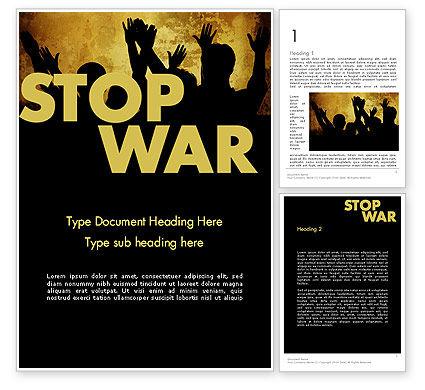 Stop War Word Template