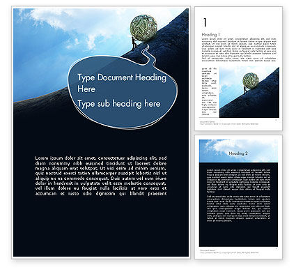 Financial Sisyphus Word Template, 12048, Financial/Accounting — PoweredTemplate.com