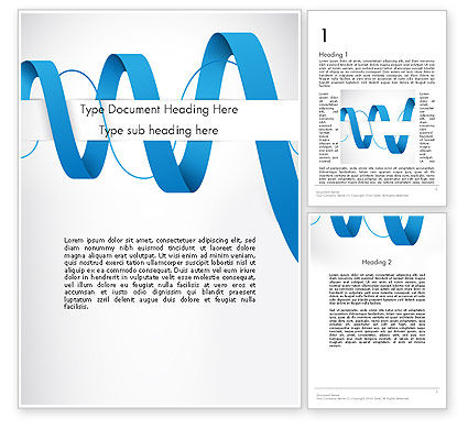Abstract/Textures: Modèle Word de remplacement de ruban abstrait #12054