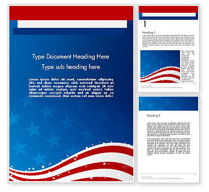 Fourth Of July Word Template, 12057, Holiday/Special Occasion — PoweredTemplate.com