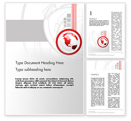 Technological Advancement Word Template, 12058, Global — PoweredTemplate.com