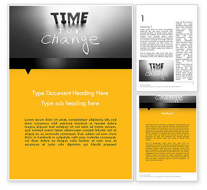 Time for a Change Word Template, 12063, Consulting — PoweredTemplate.com