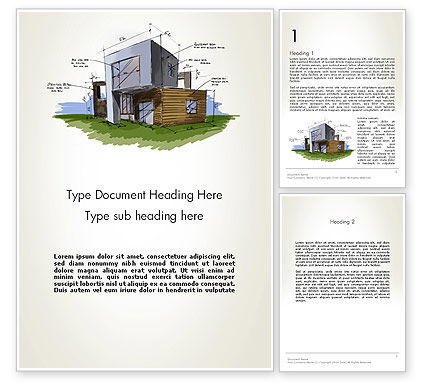 Construction: Concept Architecture Word Template #12072